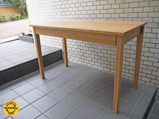 無印良品 MUJI オーク材 デスク ワークテーブル w110 ナチュラル 引き出し付き ■