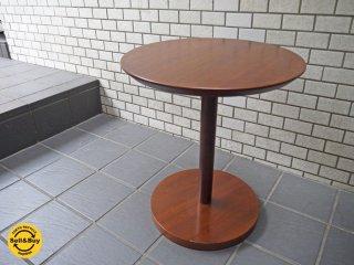 IDC 大塚家具 OTSUKA リーベ サイドテーブル ウォールナット 無垢材 ラウンドテーブル ■