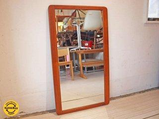 北欧 ビンテージ チーク材 ウォールミラー 壁掛け 鏡 ミラー ★