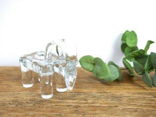 コスタボダ KOSTA BODA ビンテージ ゴート ガラス キャンドルスタンド  山羊 キャンドルスティック ●