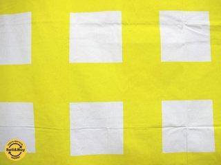 ヴォッコ VUOKKO ビンテージ ファブリック ヴォッコ・ヌルメスニエミ SAANTO-73 黄色格子 ●