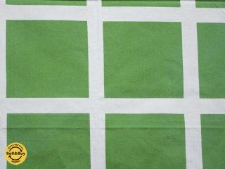 マリメッコ marimekko ヴォルティ VOLTTI 164×135 緑 ビンテージ ファブリック 生地 マイヤ・イソラ Maija Isola ●