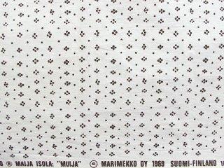 マリメッコ marimekko ムイヤ MUIJA ホワイト 125×140 ビンテージ ファブリック 生地 マイヤ・イソラ Maija Isola ●