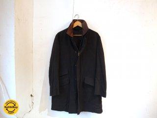 ブリオーニ Brioni レイヤード ステンカラー コート ライナー脱着可能 イタリア製 スーツコート ブラック ウール ★