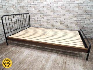 ジャーナルスタンダードファニチャー Journal Standard Furniture サンク SENS ベッドフレーム セミダブル 鉄脚 インダストリアル デザイン ●