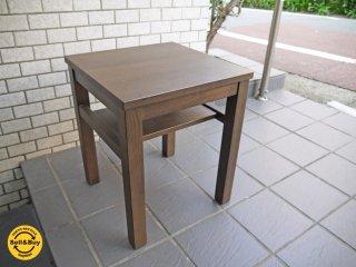無印良品 MUJI タモ材 サイドテーブル ナイトテーブル ブラウン ■