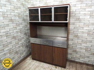 ウニコ unico ストラーダ STRADA キッチンボード W1200 扉仕様( カップボード 食器棚 レンジボード ) 現行品 定価:15.3万! ◇