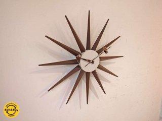 ヴィトラ Vitra ジョージネルソン George Nelson サンバースト Sunburst Clock 壁掛け時計 ウォールクロック ウォールナット ★