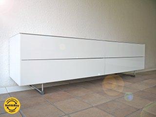 カッシーナ ・ イクスシー Cassina IXC. EDITION ロータス LOTUS シアターボード W1700 G.ホワイト 定価¥237,600- AVボード ローボード テレビボード ◇