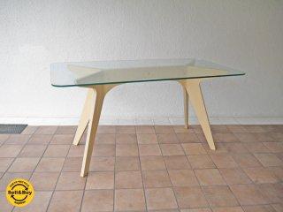 イーアンドワイ E&Y ペガサスダイニングテーブル PEGASUS DINING TABLE W140 ビーチ材 白 WU-1 ¥11.8万 アレックス・マクドナルド Alex Macdonald ◇