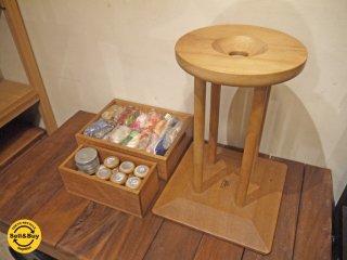 長沼静きもの学院 組紐 丸台 組玉 駒16個 錘12枚 糸 日本伝統工芸 古道具 ■