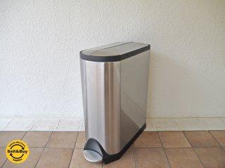 シンプルヒューマン simplehuman バタフライステップカン 分別タイプ 大容量 40L ダストボックス ゴミ箱 定価:\29,160- ◇