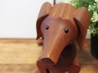 カイボイスン Kay Bojesen ビンテージ ダックスフント dog 木製オブジェ デンマーク 希少 ●