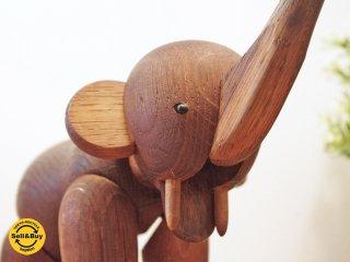 カイボイスン Kay Bojesen ビンテージ ゾウ elephant 木製オブジェ デンマーク 希少●