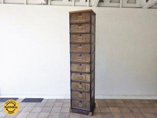 ジャーナルスタンダードファニチャー journal standard Furniture オックスフォード OXFORD 10ドロワー チェスト キャビネット 廃盤希少 ◇