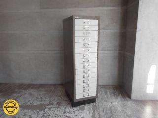 ビスレー BISLEY ベーシック BASIC 39/15 15段ドロワー キャビネット A4サイズ 2トーンカラー 廃盤 ♪