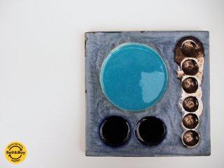 ロールストランド Rorstrand 陶板 ウォールプレート ビンテージ オーレ・アルベリウス 希少 ●