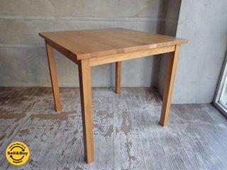 無印良品 MUJI オーク 無垢材 ダイニングテーブル 正方形 幅80cm ♪