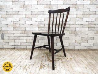 北海道民芸家具 HOKUMIN 現 飛騨産業 樺材無垢材 ダイニングチェア ウィンザーチェア 椅子 A ●