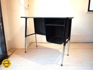 アメリカ US ビンテージ タイプライターデスク vintage typewriter desk メラミントップ 片袖付 ミッドセンチュリー ★