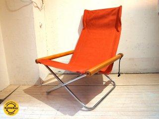 ニーチェア エックス Ny chair X 新品シートに交換済 レンガ 折畳 チェア 新居 猛 MoMA ★