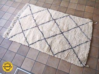 ベニワレン Beni Ouarain ビンテージ ラグ ウール100% 羊毛 手織り モロッコ ハンドメイド 160×100 ◇