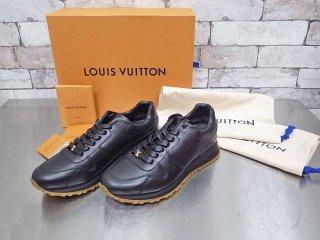 シュプリーム × ルイ・ヴィトン Supreme × Louis Vuitton ランアウェイ スニーカー Run Away Sneaker ブラック 約25cm 未使用品 ●