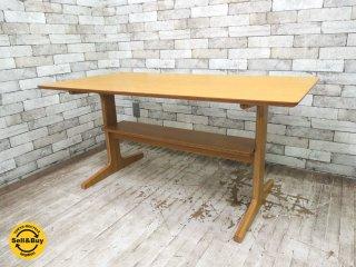 無印良品 MUJI リビングでもダイニングでもつかえるテーブル W130xD65xH60cm オーク材 ●