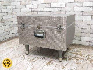 Quantum Scientific ビンテージ アルミトランク リメイクテーブル ローテーブル ブランケットボックス トランク 収納箱 ●