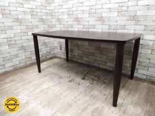 IDC大塚家具 シガーロ オーク無垢材 ダイニングテーブル W150cm ダークブラウン 柏木工OEM製品 ●
