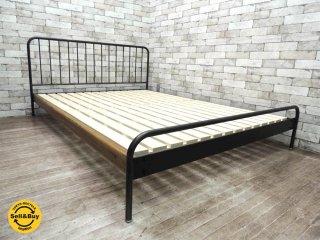 ジャーナルスタンダードファニチャー journal standard furniture サンク SENS ベッドフレーム アイアン W147cm ダブルサイズ インダストリアル ●