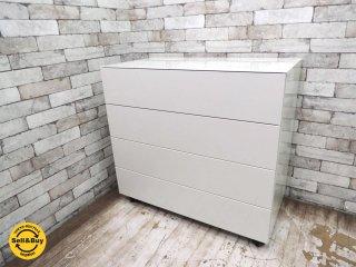 カッシーナイクスシー Cassina ixc. ロータス LOTUS 4段ドロアー drawer チェスト スライドトレー付 グロッシーホワイト W85cm ●