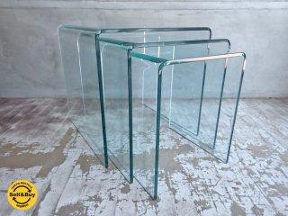 ボーコンセプト BoConcept アドリア Adria ガラス ネストテーブル 3点セット ♪
