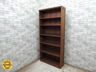 ウォールナット材 ブックケース 本棚 書棚 飾り棚 北欧スタイル レトロ W95xH205cm ●