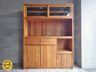 ウニコ unico ブレス BREATH チーク材 食器棚 キッチンボード オープン ♪