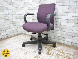 ノル Knoll ビンテージ デスクチェア 事務椅子 USA ノール アームチェア キャスター付き ●