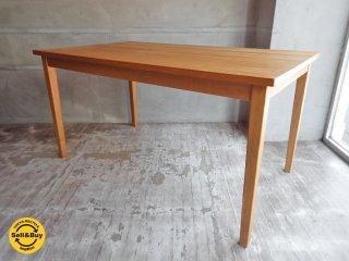 無印良品 MUJI タモ無垢材 ダイニングテーブル 幅140cm ♪