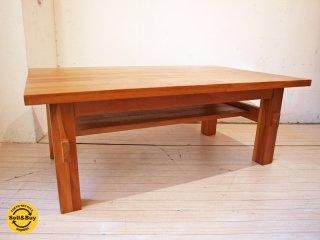 ウニコ unico ブレス BREATH チーク無垢材 ローテーブル 幅95cm ★