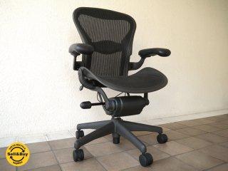 ハーマンミラー HermanMiller アーロンチェア Aeron Chair ランバーサポート フル装備 Aサイズ 定価¥183,600- ( デスクチェア / オフィスチェア )状態良好 ◇