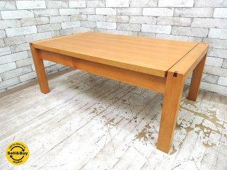 朝日木材 ボスコ BOSCO 伸長式 リビングローテーブル W120cm ニヤトー材 ●