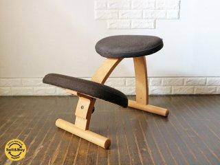 リボ Rybo バランスチェア イージー Balans EASY ブラウン ファブリック 学習椅子 北欧家具 ノルウェー 替えカバー付き ◎