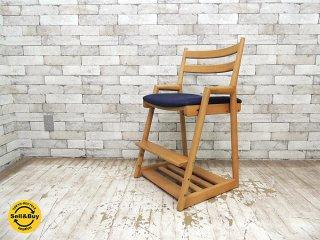 日進木工 nissin キッズチェア ホワイトオーク無垢材 アクタス取り扱い 飛騨家具 デスクチェア 高さ調節機能 ●