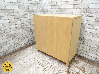 無印良品 MUJI 組み合わせて使える木製収納 ミドルタイプ タモ材 本棚 シェルフ 専用木製扉 ★