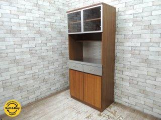 ウニコ unico ストラーダ STRADA スタンダードタイプ キッチンボード レンジボード 食器棚 W80cm 廃盤  ●