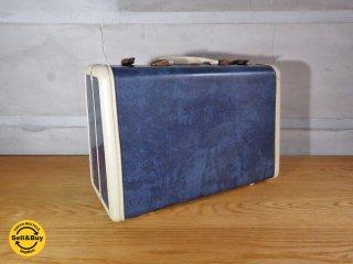 サムソナイト Samsonite ビンテージ トランク ブルー ホワイト 60s US ♪