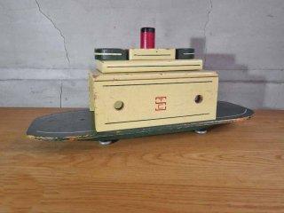 シーバートイカンパニー seaver toy co US ヴィンテージ 木製 シップ 船 ショート 玩具 STC ♪