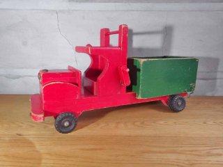 ヴィンテージ 木製 トラック 玩具 北欧 東欧 ♪