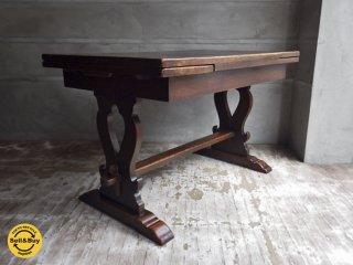 英国 アンティーク ドローリーフテーブル UK ビンテージ イギリス ダイニングテーブル ♪