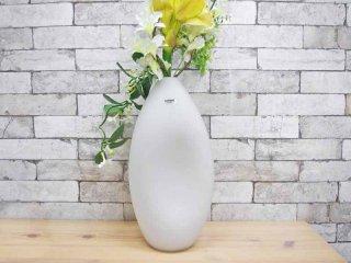 ムラーノ MURANO ガラス フラワーベース ホワイト alfredo barbiniデザイン●