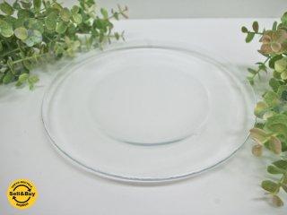 アラビア ARABIA オマ oma ガラスプレート クリア 22cm ハッリ・コスキネン 廃盤希少品 B ●
